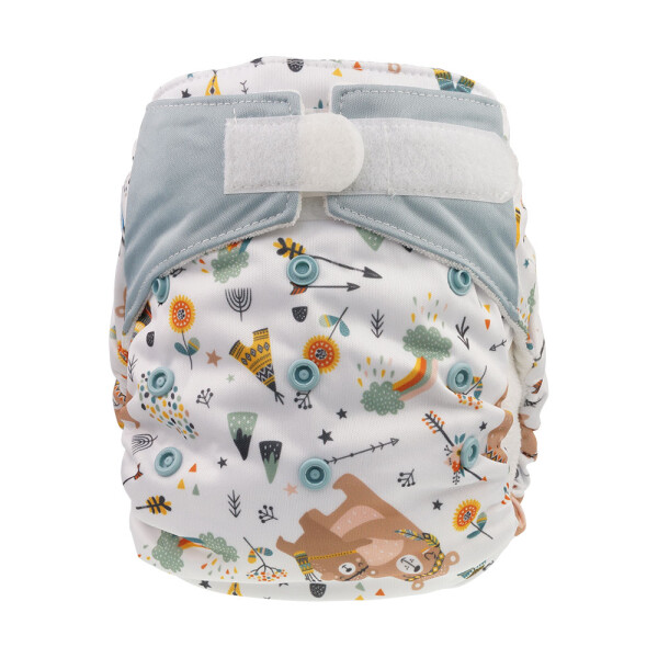 Blümchen All-in-One Bambus One Size Kletter 3,5-15kg